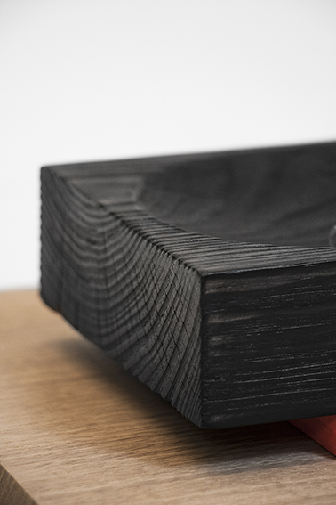 vide poche bois noir