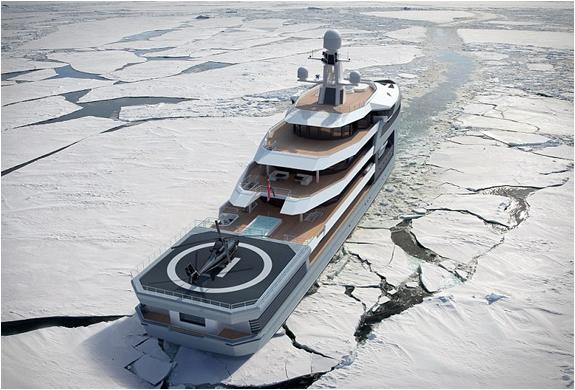yacht brise glace