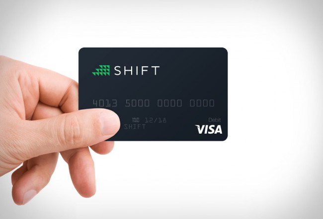 shift bitcoin carte VISA