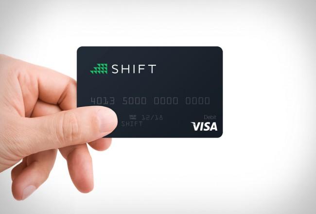 shift bitcoin carte VISA