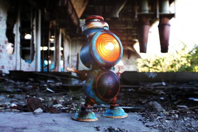 Lampe vintage bonhomme