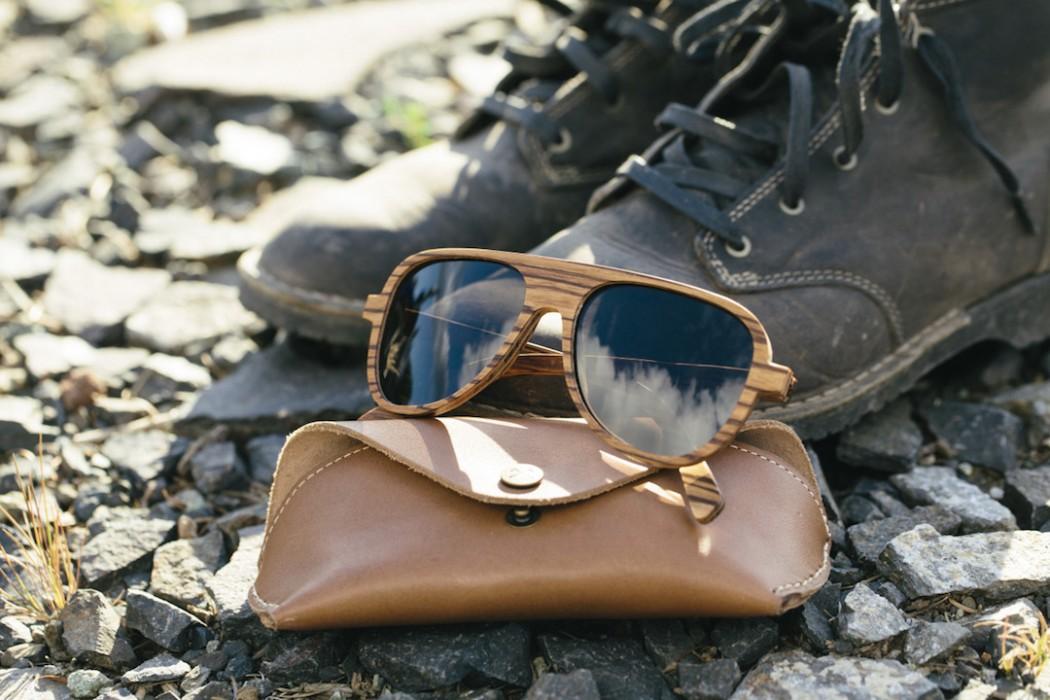 lunettes soleil pilote bois