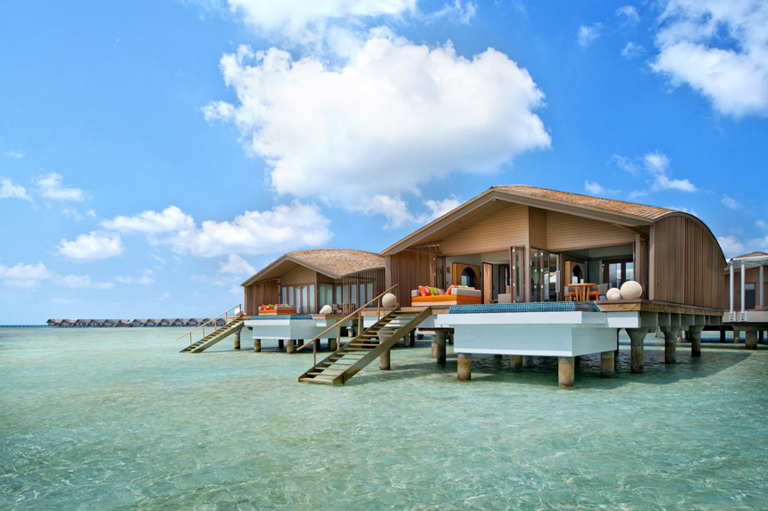 villa pilotis maldives