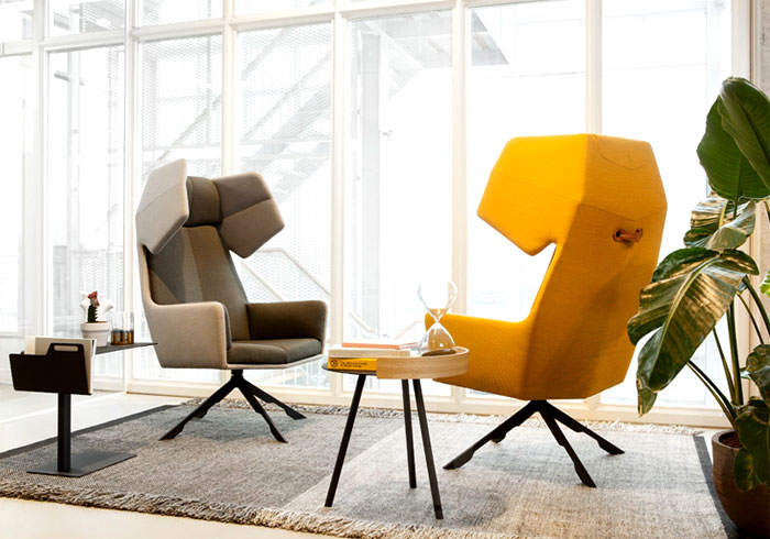 Fauteuil forme origami