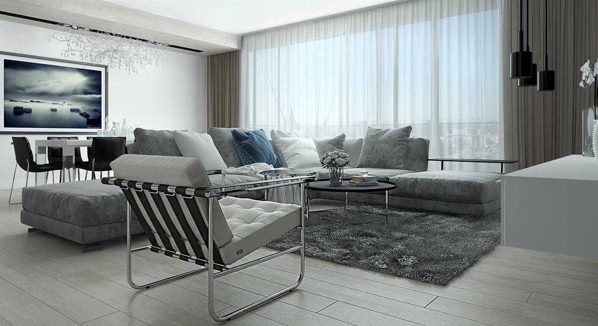 Décoration interieur gris et metal