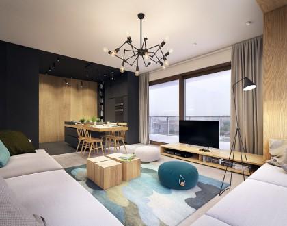 meuble télé bas en bois
