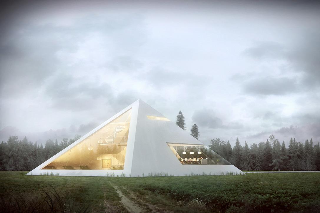 Maison pyramide
