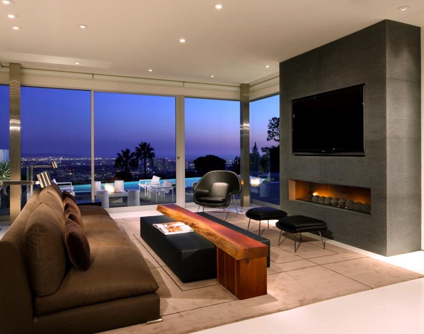 Salon avec vue sur Los Angeles