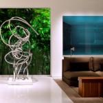 Sculpture design acier