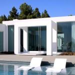 Bain de soleil design piscine