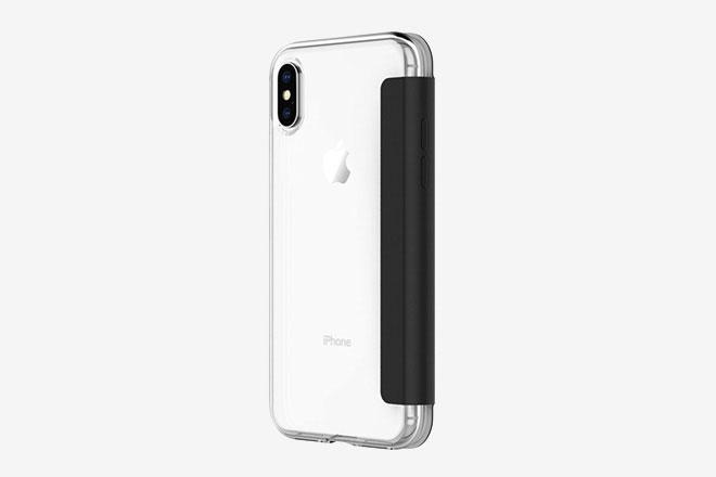 coque transparente porte-feuille iphone x